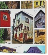 Old Turkish Houses Wood Print