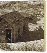 Old Tyme Cape Cod Wood Print