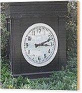 Old Tyme Clock Wood Print
