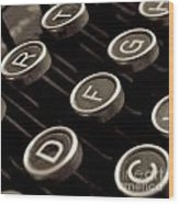 Old Typewriter Wood Print by Bernard Jaubert
