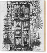 Old Venetian Door In Rethymno Wood Print
