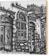 old Venetian doors Wood Print
