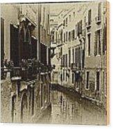 Old Venezia Wood Print