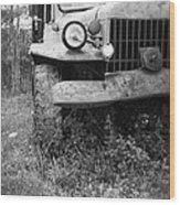 Old Vintage Dodge Work Truck Wood Print