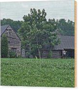 Old Virginia Barns Wood Print