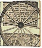 Old Wagon Wheel 1 Wood Print