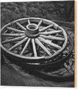 Old Wagon Wheels Wood Print