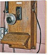 Old Wall Telephone Wood Print