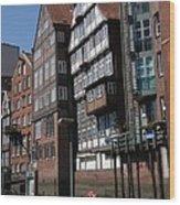 Old Warehouses Port Of Hamburg  Wood Print