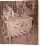 Old Washer Wood Print
