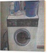 Old Washing Machine Wood Print by Paez  ANTONIO
