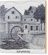 Old Water Mill Wood Print