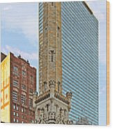 Old Water Tower Chicago Wood Print