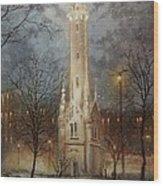Old Water Tower Milwaukee Wood Print