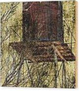 Old Water Tower Wood Print