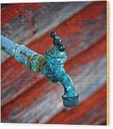 Old Water Valve Wood Print