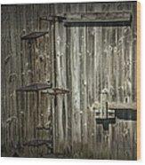 Old Weathered Barn Door Wood Print