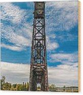 Old Welland Lift Bridge  Wood Print