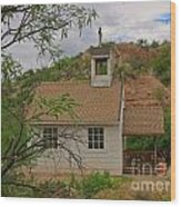 Old West Church In The Desert Wood Print