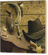 Old West Marshal Wood Print by Ron Hoggard