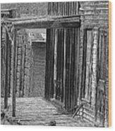 Old West            Pencil Wood Print