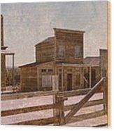Old West Scene Wood Print