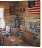 Old West School House Wood Print