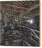 Old West Wagon Storage And Shop Wood Print