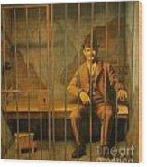 Old Western Jail Wood Print