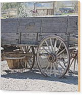 Old Western Wagon Wood Print