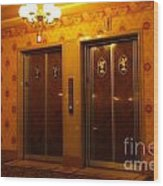 Old Westinghouse Elevators At The Brown Palace Hotel In Denver Wood Print