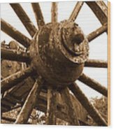 Old Wheel  Wood Print