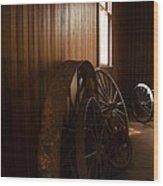 Old Wheels Wood Print