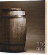 Old Whisky Barrel Wood Print