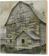 Old White Barn Wood Print