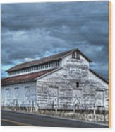 Old White Barn Wood Print