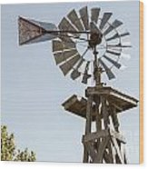 Old Windmill In Antique Color 3009.02 Wood Print
