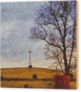 Old Windmill On The Farm Wood Print