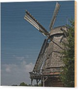 Old Windmill Wood Print