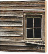 Old Window And Clapboard Wood Print