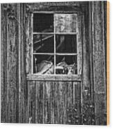 Old Window Wood Print by Garry Gay
