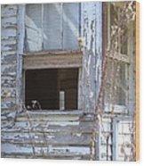 Old Windows Overlooking New World Wood Print
