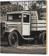 Old Wine Truck Malibu Wood Print