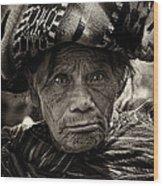 Old Woman Of Chichicastenango Wood Print