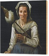 Old Woman Spinning, 1646-48 Wood Print