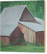 Old Wood Barn Wood Print by Melanie Blankenship