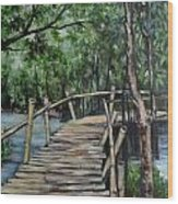 Old Wood Bridge Wood Print