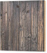 Old Wood Shack Exterior Background Wood Print