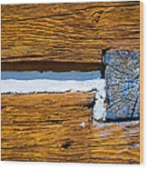 Old Wooden Houses Timbers Wood Print