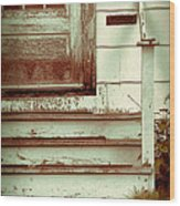 Old Wooden Porch Wood Print